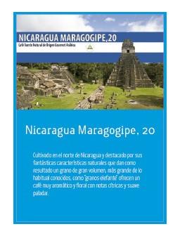 NicaragMaragogype, 19 en grano Doypack 250g