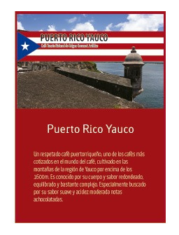 Puerto Rico Yauco en grano Doypack 250g