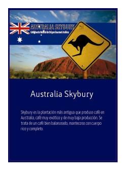 Australia Skybury en grano Doypack 250g