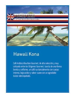 Hawaii Kona en grano Doypack 250g