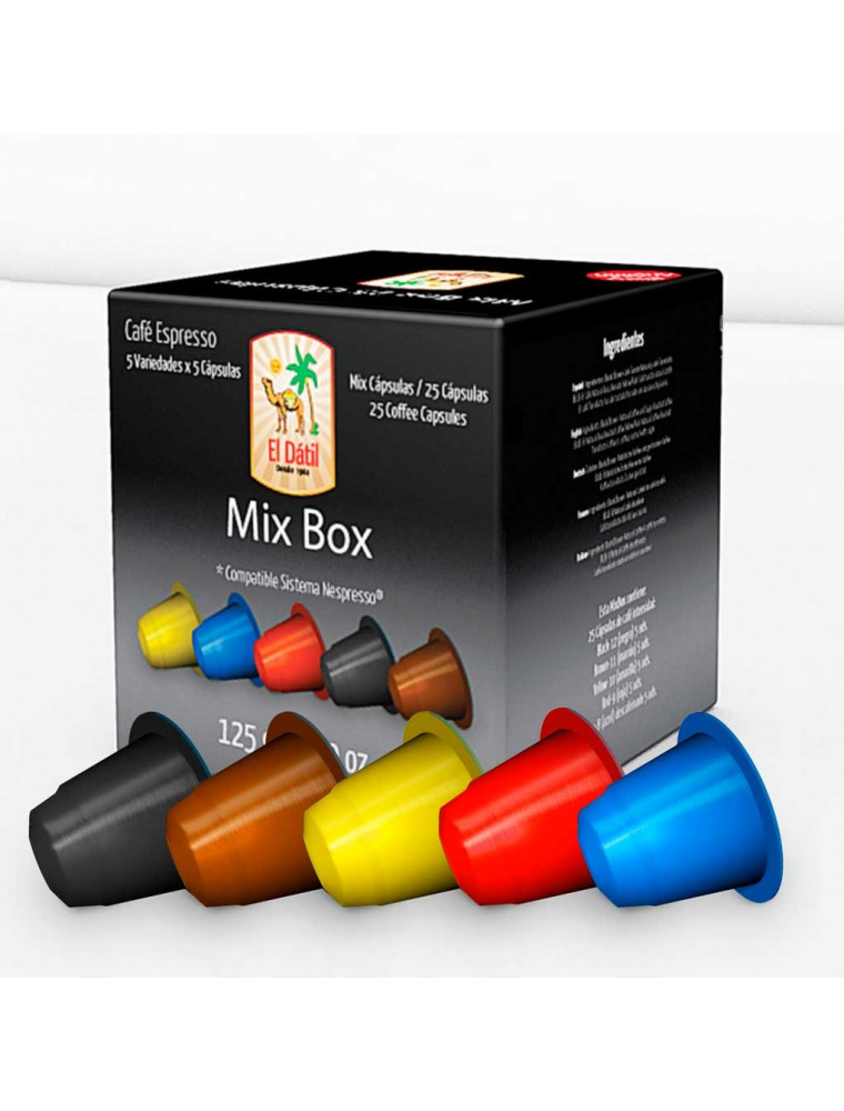 Cápsula El Dátil Mix Box - Envase Ahorro 25 unidades