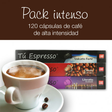 Pack Cafés Intensos - 120 Cápsulas Compatibles