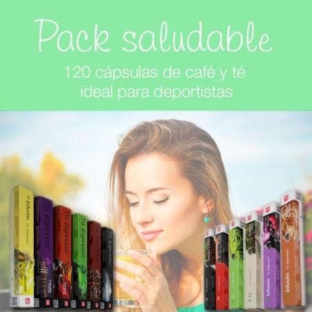 Pack Saludable: Tés, Infusiones y Cafés - 120 Cápsulas Compatibles