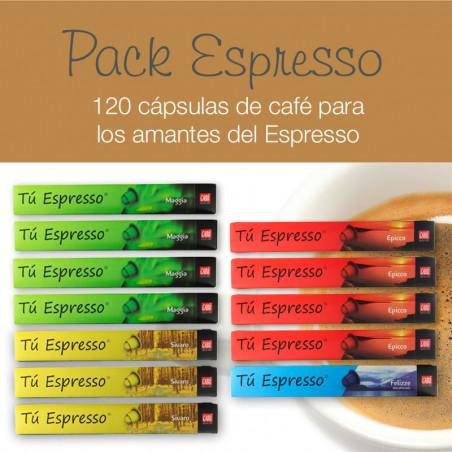 Pack Café Espresso - 120 Cápsulas Compatibles