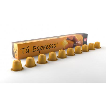 Orozu: Cápsulas café sabor caramelo. Estuche 10 cápsulas