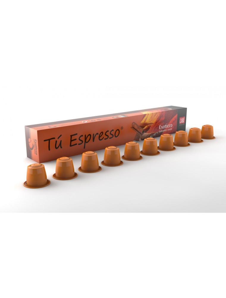 Exoticco: Cápsulas Café sabor canela. Estuche 10 cápsulas