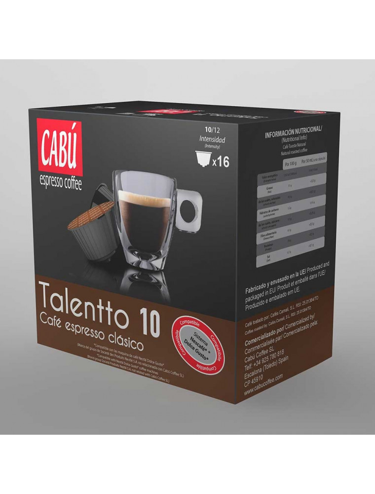Talentto Café Espresso Clásico - Cápsula Compatible Dolce Gusto®**