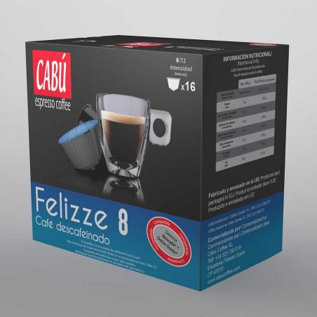 Felizze Café Espresso Descafeinado - Cápsula Compatible Dolce Gusto®**