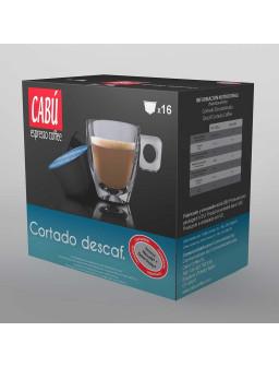 Café Cortado Descafeinado Cabú Coffee - Cápsula Compatible Dolce Gusto®**