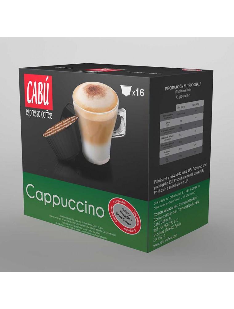 Café Cappuccino Cabú Coffee - Cápsula Compatible Dolce Gusto®**