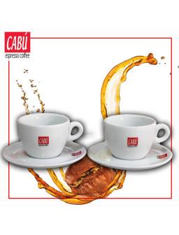 Juego 2 Tazas + 2 Platos Cabú Coffee