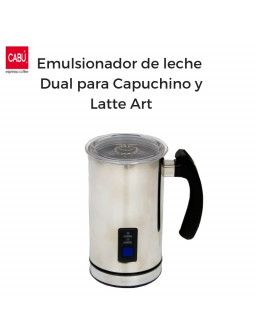 Emulsionador de leche Dual para Capuchino y Laite Art