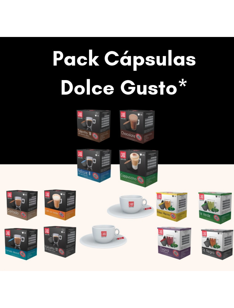 Pack 192 capsulas dolce gusto