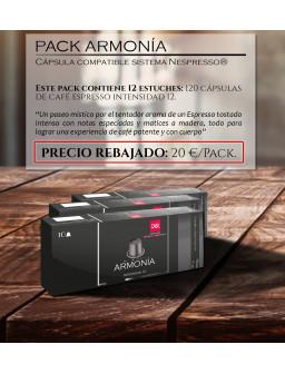 Pack Armonía: cápsula compatible con sistema Nespresso®*